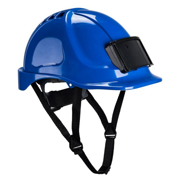 Casque Portwest Endurance avec porte-badge bleu
