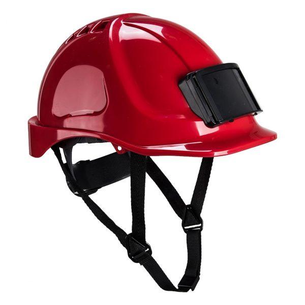 Casque Portwest Endurance avec porte-badge rouge