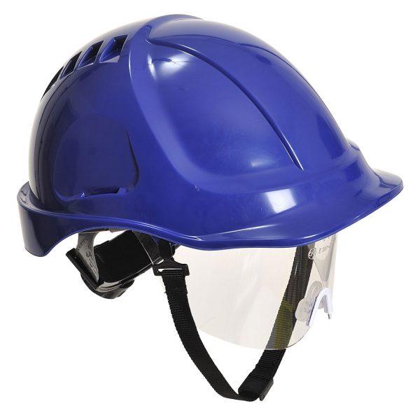 Casque à visière Portwest Endurance plus visor bleu