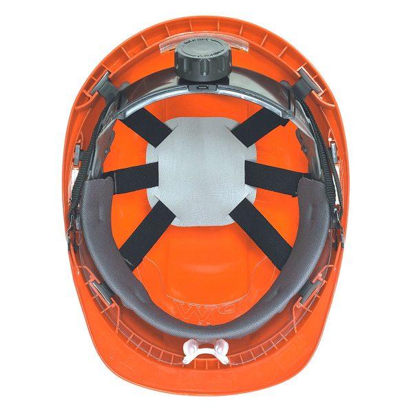 Casque à visière Portwest Endurance plus visor orange vue intérieure
