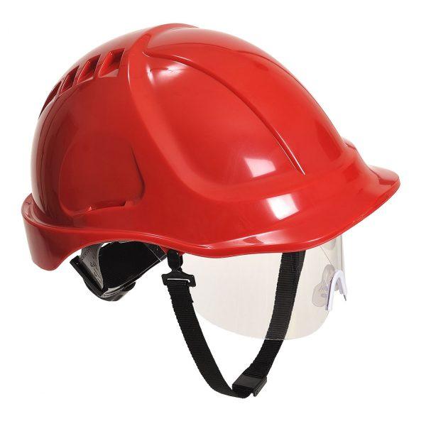 Casque à visière Portwest Endurance plus visor rouge