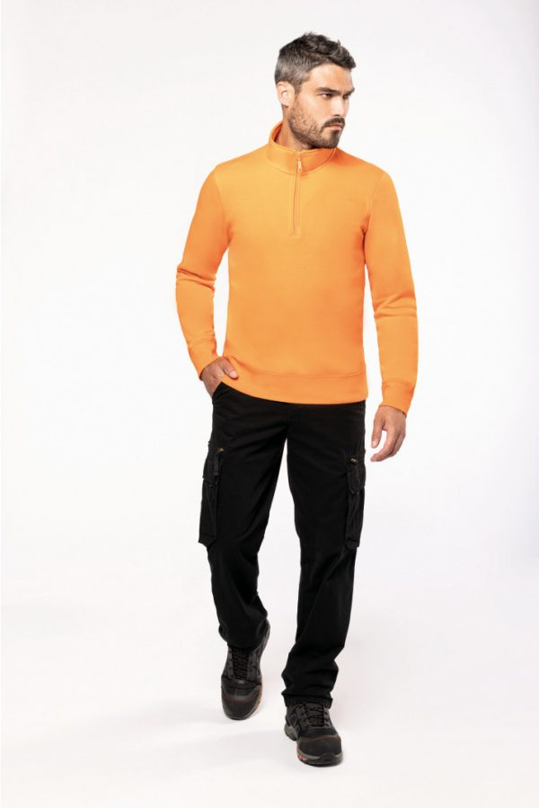 sweat shirt col zippe kariban