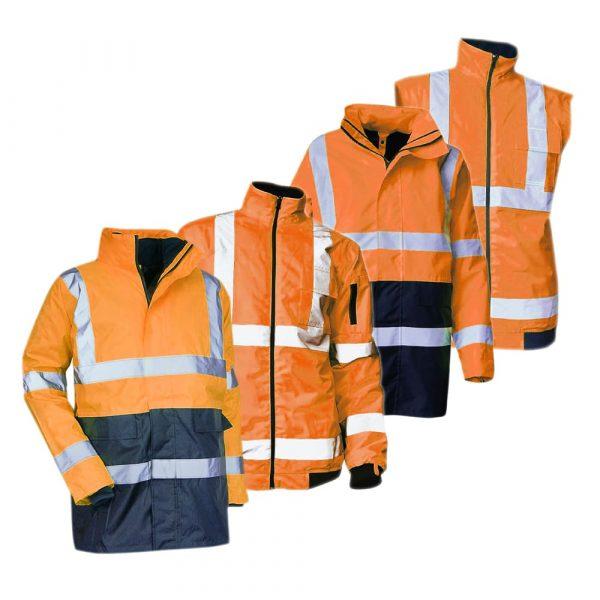 Kit de parkas haute-visibilité LMA PREVENTION version orange 1
