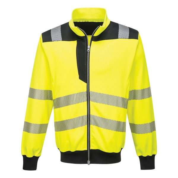 Sweatshirt zippé hv Portwest jaune