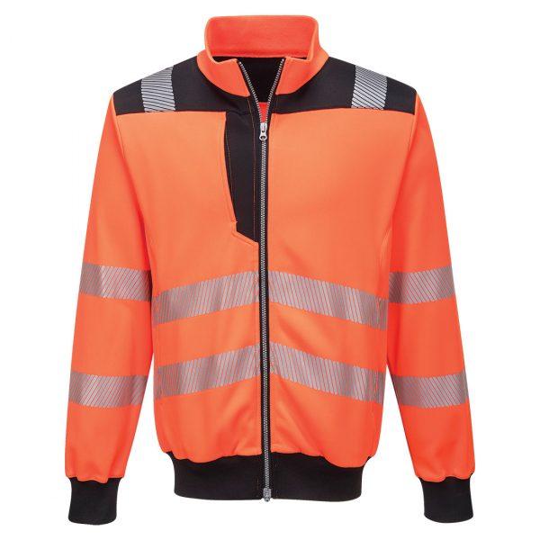 Sweatshirt zippé hv Portwest orange