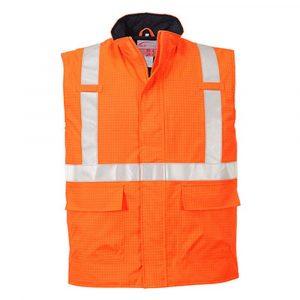 Bodywarmer PORTWEST Hi-Vis Bizflame antistatique et FR orange