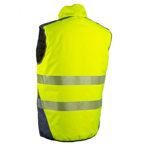 Bodywarmer HV Coverguard Yoru jaune dos