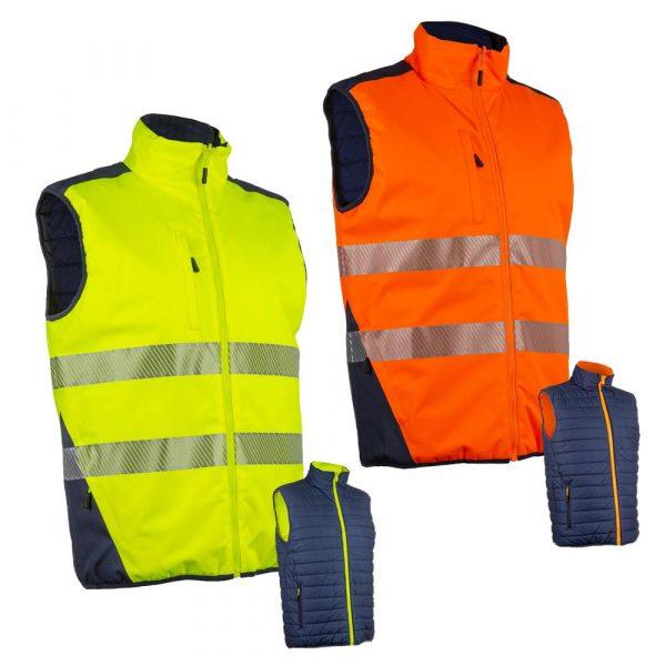 Bodywarmer HV Coverguard Yoru jaune orange
