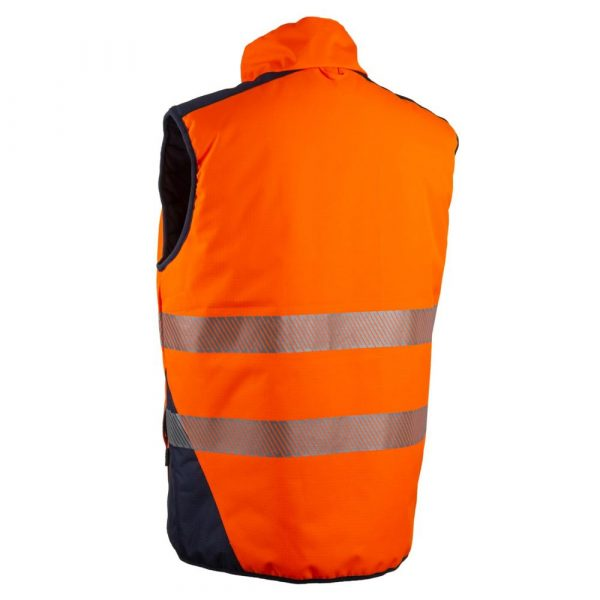 Bodywarmer HV Coverguard Yoru orange dos