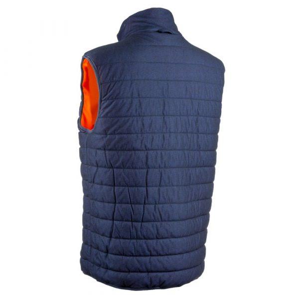 Bodywarmer HV Coverguard Yoru orange réversible dos