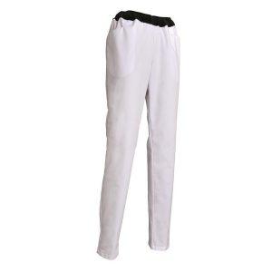 Pantalon SNV Eli poly-coton blanc