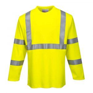 T-shirt PORTWEST à manches longues haute visibilité FR 1
