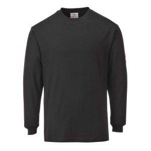 T-Shirt PORTWEST manches longues Flamme résistant et antistatique noir