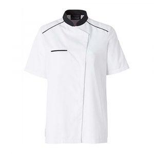 Veste de cuisine MOLINEL Néospirit Femme manches courtes blanc noir