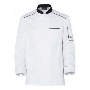 Veste de cuisine MOLINEL Néospirit Homme manches longues blanc/noir