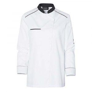 Veste de cuisine Molinel Néospirit Femme manches longues blanc noir